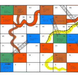 A New Game of Snakes and Ladders For Muslim Children