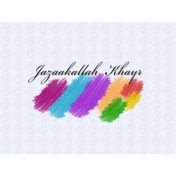 Postkort - Jazaakallah Khayr 1