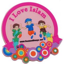 Køleskabsmagnet - I Love Islam