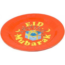 Eid Mubarak tallerkener (5 stk)