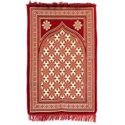 Bedetæppe - Luksus polstret - Rød
