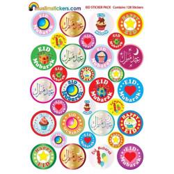 Eidklistermærke pakke (eid sticker pack) - 84 eid klistermærker