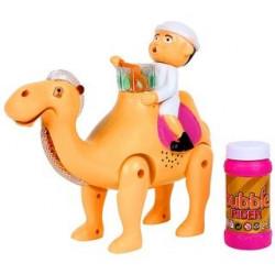 Ørken kamel med Sæbebobler og lyd (Labbayk Allaahumma labbayj)