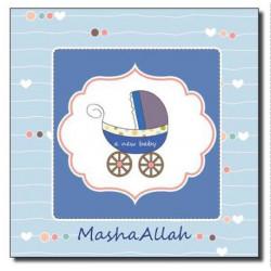 Mashallah Baby Boy postkort...