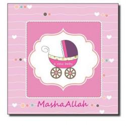 Mashallah Baby Girl postkort (Aqeeqah)