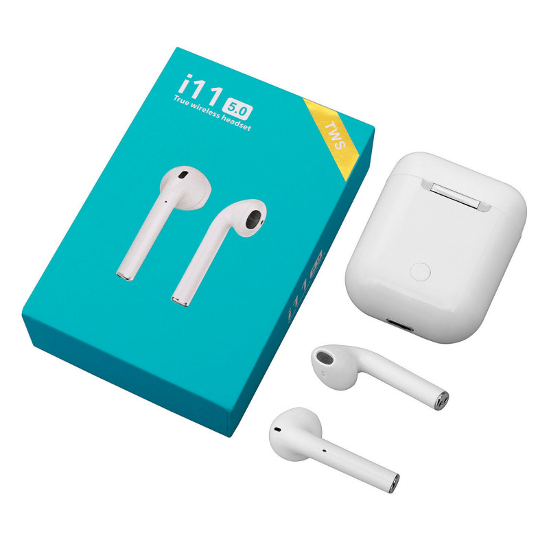 TWS i11 Earbuds Bluetooth 5.0 Hvide