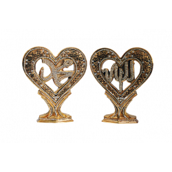 Hjerte guld/sølv dekoration...